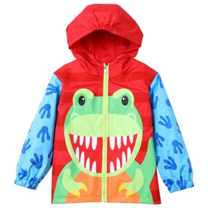 Chaqueta impermeable para niños lindos animal frog cartoon cosplay abrigo con capucha para 2-6 años niños niños niñas ropa impermeable