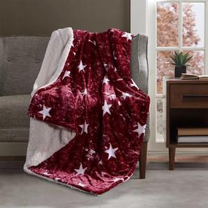Red Star Design Umfassender Mode Einfache Herbst-Winter-Decke verdicken Reisen Werfen Home Office Navy 1.5 / 2kg Nap Blanket