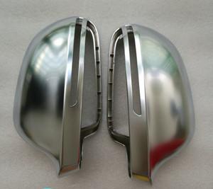 2009 A4 B8 A6 C6 Chrome Side Wing Mirror Covers Cap fit Audi A6L A4L A8 Q3 A5 B8 8K case Replacement Silver Matte