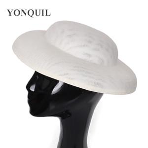 30 سنتيمتر جولة قبعة كبيرة fascinator قاعدة النساء اكسسوارات للشعر تقليد سيناماي fascinator غطاء الرأس المواد حفل زفاف جذابة أغطية الرأس