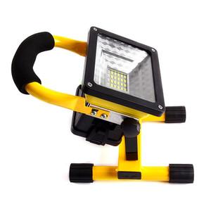 20W Portable Coulée Lumière 360 Degrés Rotation Carré Chantier De Construction Lampe De Secours LED Signal Extérieur Projecteur 35rh X