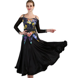 Ballroom Dance Dresses Women New Standard Waltz Dancing Costume Adult flower stampa Ballroom Competition Abiti q089