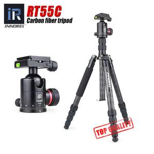 Trípode de la fotografía del viaje del trípode del trípode de la cámara de la fibra de carbono del RT55C 12kg con la cabeza de la bola para Canon Nikon Sony