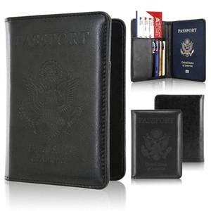 RFID Блокировка Кожаный Паспорт Держатель Чехол Кошелек для безопасной поездки