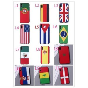 2018 World Cup flag silicone mobile phone shell drop protection wholesale