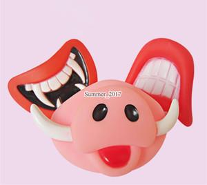 Squeak Sound Divertente Pet Toy Vinyl Red Devil's Lip Squeak Sound Giocattoli per cani Cane da masticare Cucciolo Molar Giocattoli per cani Giocattoli da masticare