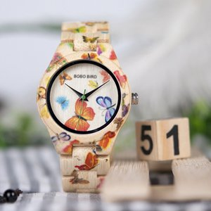Designer BOBO Box Butterfly Watches Bamboo Wood Quartz With Hour Brand Ladies Festival Wholesale Gifts BIRD Drop Shipping Gsgka