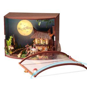 Sylvanian Families House Casa de Muñecas Diy Texto Oculto Creativo Forest Box Juguetes de Madera para Niños Regalo de Novia Juguetes Brinquedos
