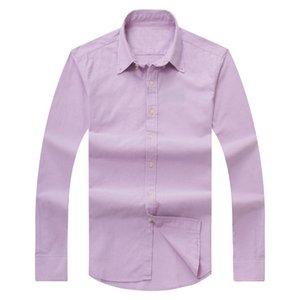 Мужская осенняя и зимняя одежда Мужская с длинными рукавами хлопчатобумажные рубашки хлопок рубашка поло Оксфорд рубашка поло