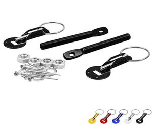 Universal Racing Car Alloy Bonnet Down Hood Mount Pin Pins Lock Latch Kit