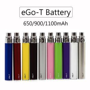 Высокое качество eGo-T батареи eGo батареи E сигареты Vape Pen 650mAh 900mAh 1100mAh 10 цветов Fit MT3 H2 CE3 стеклянные форсунки