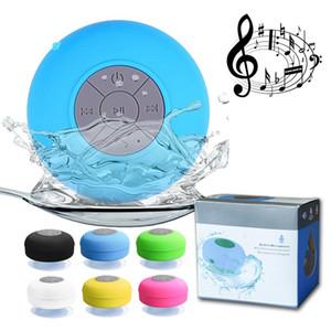 Mini portátil Subwoofer chuveiro Waterproof Wireless Speaker Bluetooth Car Handsfree Receba Call Music sucção Mic para o iPhone Samsung