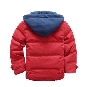 Belababy Baby Boy Winter Jacket Bambini spessa tuta sportiva calda bambini Giacche cappotto con cappuccio per ragazzi vestiti 4-11Y