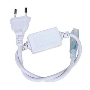 DHL Free 220V110V SMD5050 5630 3528 Conector de tira de LED flexible (enchufe de alimentación) Conector de U.S./EU resistente al agua para cinta de led