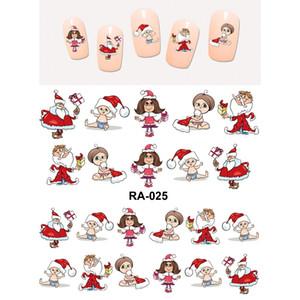 UPRETTEGO 손톱 BEAUTY WATER DECAL 슬라이더 NAIL STICKER CHRISTMAS XMAS TREES 산타 클로스 BABY KIDS RA025-030
