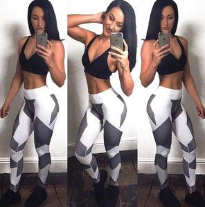 2016 novas mulheres geométricas de impressão digital yoga outfits slim leite algodão yoga pant esportes leggings feminino