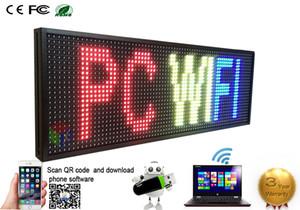 """P13 14''x (39)는 """"7 COLOR 프로그램 LED 창 용 상용 이미지 텍스트 SCROLLING 메시지 보드 디스플레이에 서명 완전 아웃 도어"""