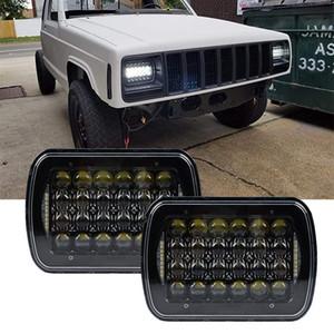 2017 Top Venda 5x7 polegadas 7 '' praça farol 105 W Hi / Lo Feixe para 1986-1995 Jeep Wrangler YJ e 1984-2001 Jeep Cherokee XJ