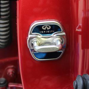 인피니티 Q50 QX50 QX60 2 색 스테인레스 스틸 도어 잠금 장치 보호 커버를 들어
