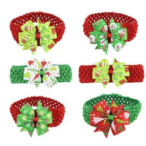 Baby Headband Ribbon Handmade Toddler Infant Kids Hair Accessories Girl Newborn Bows Tiara Turban Bandage Christmas