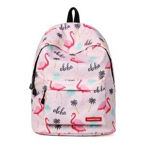 2018 мини рюкзак женщины Kawaii фламинго Bagpack Anti Theft 13 14 дюймов ноутбук рюкзак для девочек-подростков путешествия рюкзак сумка