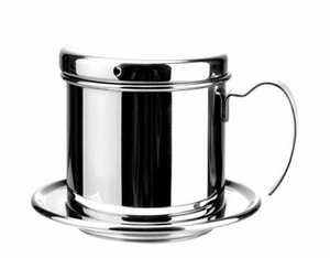 Vietnam Coffee Maker Accueil 304 Cafetière En Acier Inoxydable Brewing Pot Drip Café Pot + Papier Filtre À Café Lavé À La Main 100 pièces