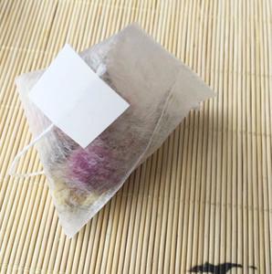 PLA biologisch abgebaut Teefilter Maisfaser 100 Stücke / Los Teebeutel Quadrangle Pyramide Heißsiegelfilterbeutel Lebensmittelqualität 55 * 70mm