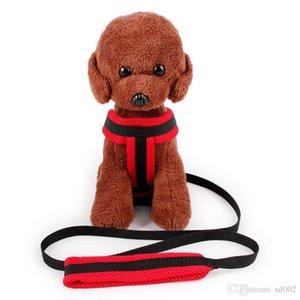 Vest Design Net Cloth Leashes Sandwich Petto posteriore Pet forniture per cuccioli Traction Rope Soft Collari di ventilazione New 9hw ii