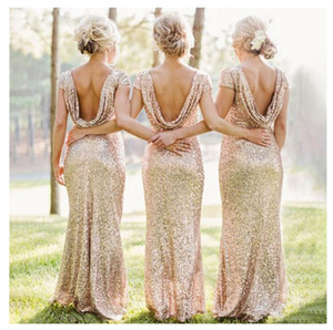 2018 new women Sexy Sequins Backless elegant fishtail Bridesmaid Dress women wedding dress skirt Cocktail swing dress