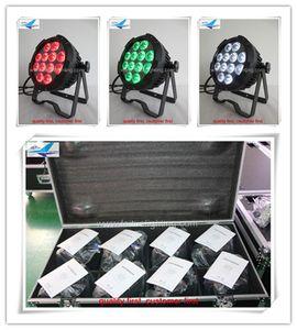 8light + fly case Buen precio 12 * 10w LED Par Light DMX para exteriores Etapa Light RGBW 4IN1 impermeable Par Light