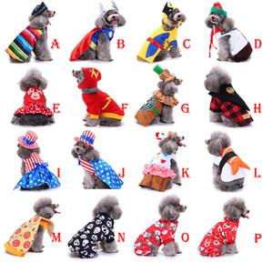 Fête de Noël Chien Vêtements Cosplay Chiot Outfit Pet Veste Manteau Vêtements D'hiver Chandail Doux Vêtements Pour Petits Chiens DHL