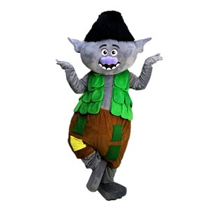 Trolls Branch Mascot Costumes Cartoon Character Adult Sz 100% Real Picture 026