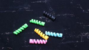 USB kablolar için Mini Sevimli Renkli Veri Hattı Koruyucu Cep telefonu Kablo Koruyucu Veri Hattı Kordon Koruma Kapak