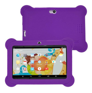 Q88 Tablet 7 inch Android 4.4 Quad Core A33 8GB+512 MB Bluetooth 4.0 Dual Camera KidsTablets PC with Silicone Case For Kids Gift