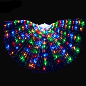 Toptan Kelebek Aydınlık Evre Kullanım göbek dansı için Led ışıkları ile programlanabilir Isis Wings led yetişkinler için sopalarla gereçler