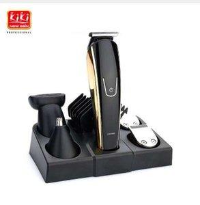 Nuevo 5 en 1 Recargable Trimmer Hair Titanium Hair Clipper Máquina de Afeitar Eléctrica Barba Trimmer Hombres Herramientas de Estilo de Afeitar