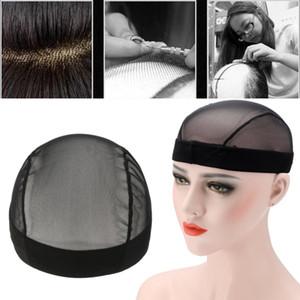 1 unids Dome estilo malla de malla peluca negro elástico Caps tejer elástico malla de malla de red para hacer pelucas Glueless Hairnet Liner envío gratis