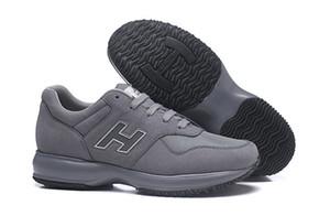 2019 nova venda sapatos interativos homens venda Italia homens online couro louros boas cicatrizes New vêm Cinza altura masculina Casual Formadores epacket