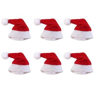 미니 크리스마스 모자 산타 클로스 모자 크리스마스 롤리팝 모자 미니 웨딩 선물 크리 에이 티브 캡 크리스마스 트리 장식 장식