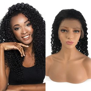 아기 머리카락으로 아프리카 계 미국인 가발 브라질 곱슬 인간의 머리 가발 Pre Plucked 레이스 전면 가발 130 % 밀도