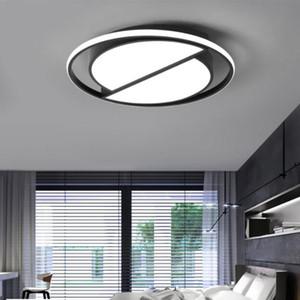 원격 제어 현대 블랙 천장 조명 라운드 거실 부엌 전등 설비 실내 조명 천장와 디 밍이 가능한 LED 천장 조명