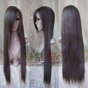 New Cosplay Long Dark Brown Straight Wig 31 Inch 80cm