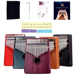 KALIMBA madeira 10keys polegar piano crianças instrumento de música iluminação levar Kalimba 17keys africano instrumento étnico