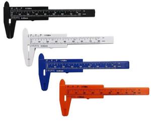 Plastic Measuring Tools Mini Vernier Calipers 1 mm mini Ruler Micrometer Gauge 80 mm Length Vernier Calipers Measurements for Promotion Gift