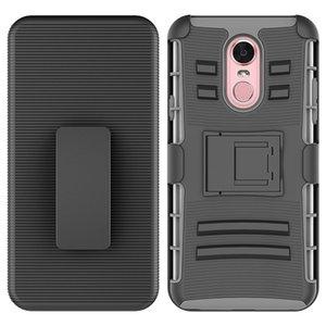 Para LG Stylo 3 k20 plus Armor Hybrid Case PC Sillicon 3 en 1 Combo Holster Belt Clip Protective Defender Kickstand Phone Cover