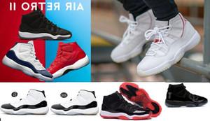 20 couleurs peuvent être choisies Platinum Tint 11 Enfants Sneakers Prom Night Cap et robe 11s XI Gym Red Bred PRM Heiress Hommes Femmes Chaussures De Basketball