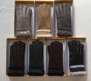 2018 Mujer alta calidad guantes de lana Marca Moda Cálida Diseñador Guante han expulsado de guantes de deportes de la manopla de marca multi color opcional Por gratuito