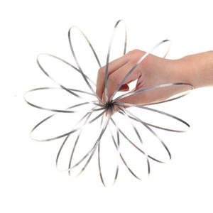 Toroflux Flow Rings Printemps 3D En Métal Jouet Anneau Débit Flowtoys Bras Slinky En Plein Air Main Spinner Nouveauté Articles OOA4718