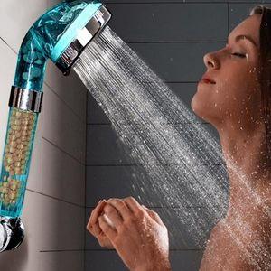 Blue Anion SPA Water Water Shower Shower Shower Filtration Cabezal de ducha de mano
