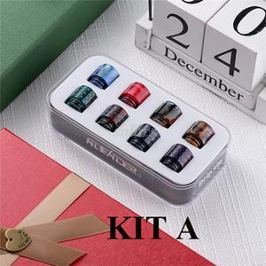 Authentique Aleader Drip Tip Kit A avec 8pcs 810 Set B avec 4 510 et 6 810 Kit C avec 8pcs 510 embouchures